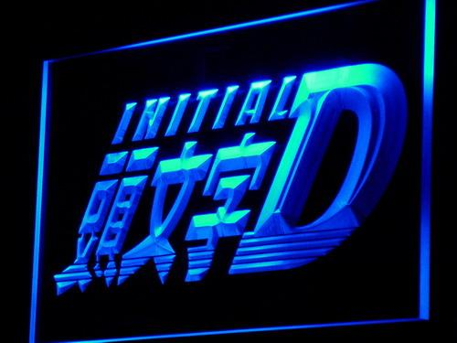 Initial D Anime LED Neon Sign g065 - Blue