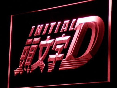 Initial D Anime LED Neon Sign g065 - Red