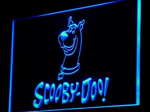 Scooby-Doo American Animated Cartoon LED Neon Sign g070 - Blue