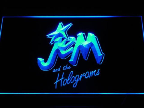 Jem And The Holograms Cartoon LED Neon Sign g132 - Blue
