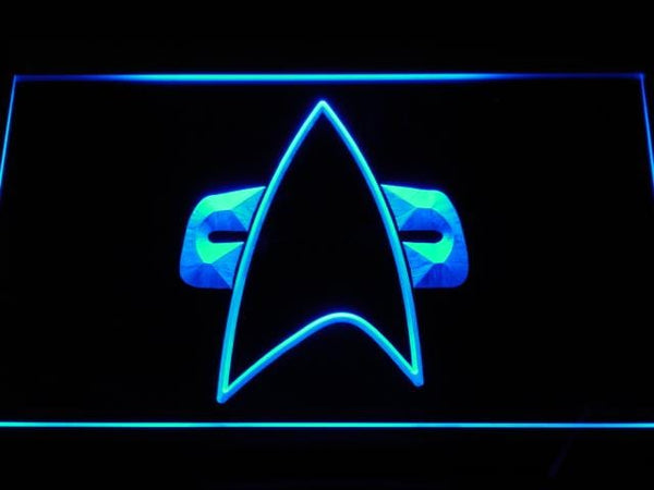 Star Trek Voyager Communicator LED Neon Sign g134 - Blue