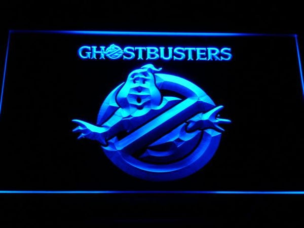 Ghostbusters Film LED Neon Sign g144 - Blue