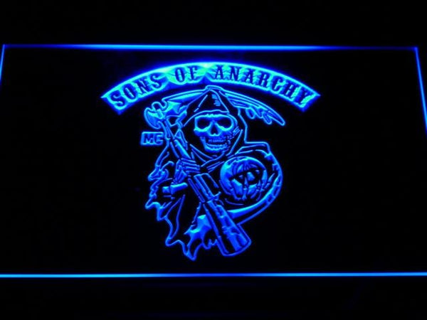 Sons of Anarchy Motorcycles LED Neon Sign g148 - Blue