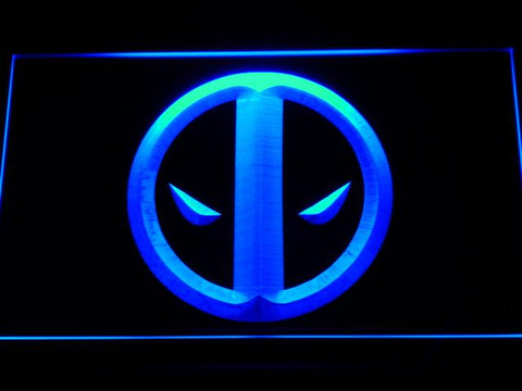 Deadpool Icon LED Neon Sign g156 - Blue