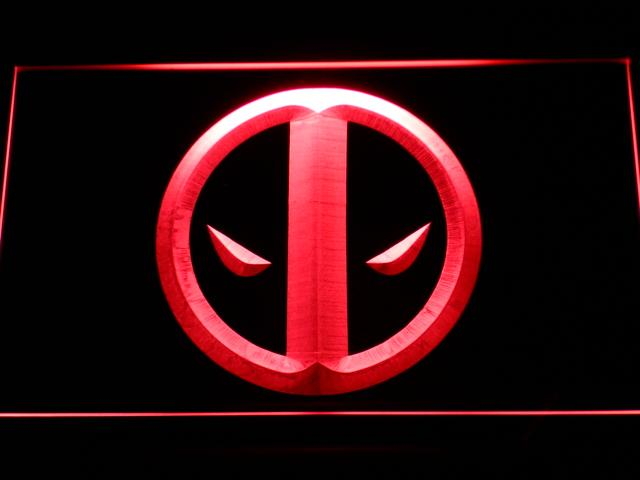 Deadpool Icon LED Neon Sign g156 - Red