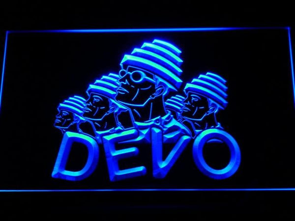 Devo Band LED Neon Sign g157 - Blue