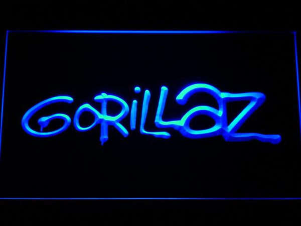 Gorillaz Virtual Band LED Neon Sign g164 - Blue