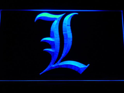 Death Note Notebook LED Neon Sign g174 - Blue