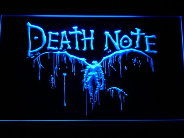 Death Note Ryuk LED Neon Sign g175 - Blue