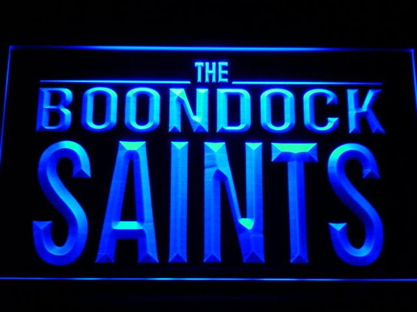 The Boondock Saints Movie LED Neon Sign g178 - Blue