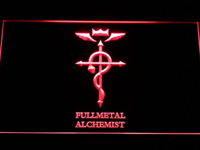 Fullmetal Alchemist Anime LED Neon Sign g181 - Red
