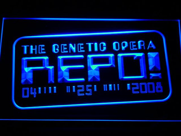 Repo The Genetic Opera Movie LED Neon Sign g186 - Blue