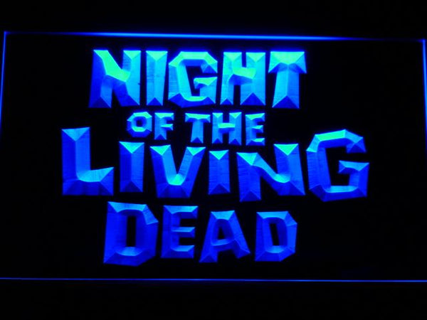 Night Of The Living Dead TV Drama LED Neon Sign g195 - Blue