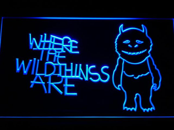 Where The Wild Things Are Movie LED Neon Sign g202 - Blue
