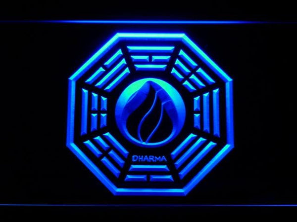 Dharma Stations Initiative Flame Lost LED Neon Sign g208 - Blue