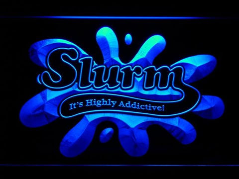 Futurama Slurm LED Neon Sign g211 - Blue