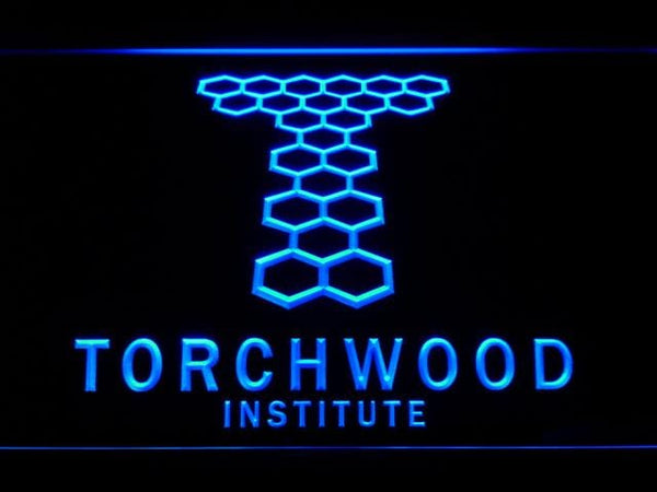 Torchwood Institute Queen Victoria LED Neon Sign g230 - Blue