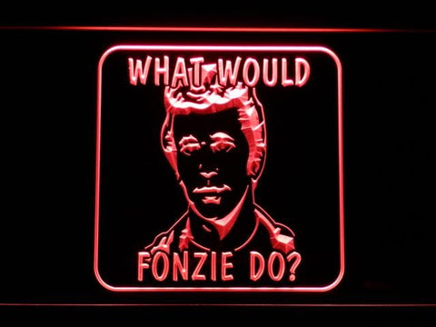 Happy Days What Would Fonzie Do LED Neon Sign g233 - Red