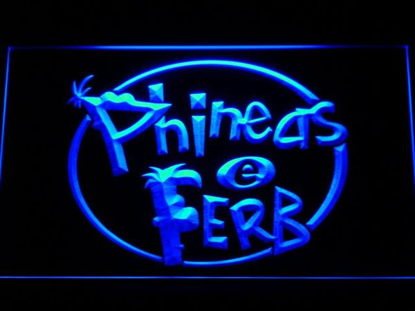 Phineas And Ferb Cartoon LED Neon Sign g250 - Blue