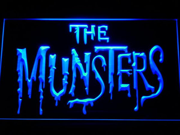 The Munsters TV Series LED Neon Sign g255 - Blue