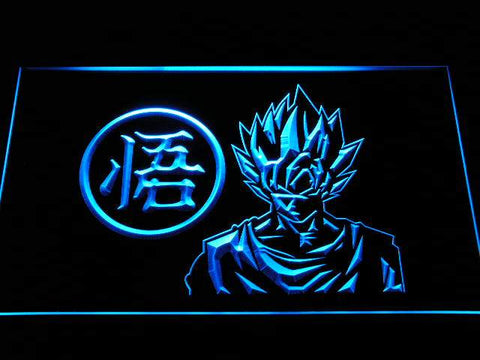Dragon Ball Z GT Super Saiyan Son Goku LED Neon Sign g256 - Blue