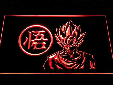 Dragon Ball Z GT Super Saiyan Son Goku LED Neon Sign g256 - Red