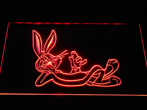 Bugs Bunny Lounging LED Neon Sign g371 - Red