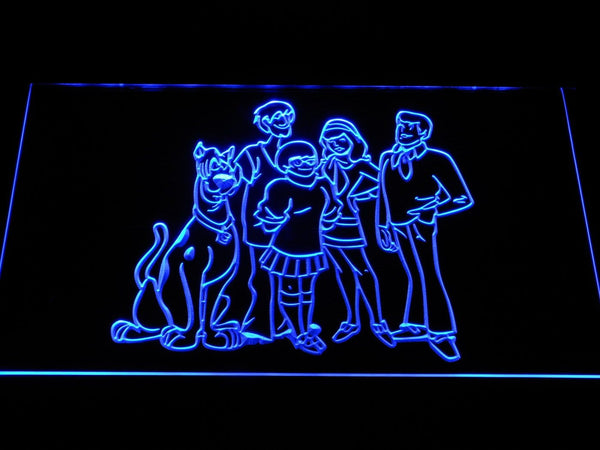 Scooby-Doo Mystery Inc. LED Neon Sign g372 - Blue