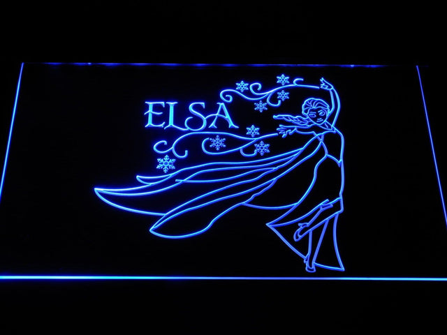 Elsa Cartoon LED Neon Sign g376 - Blue