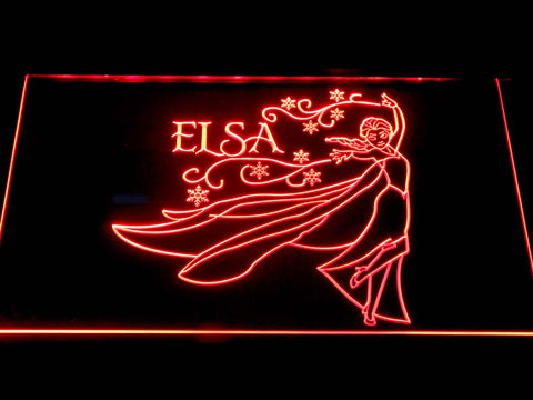 Elsa Cartoon LED Neon Sign g376 - Red