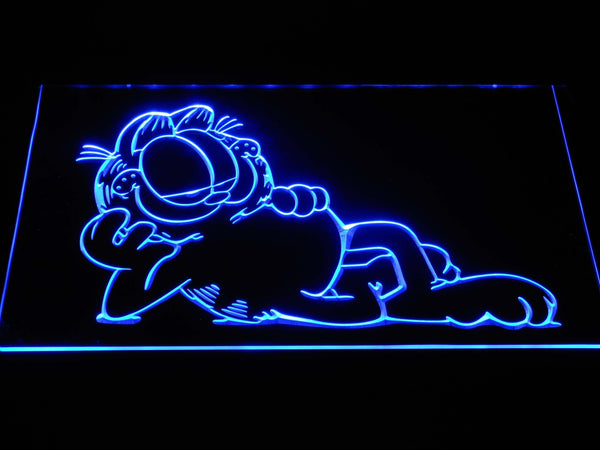 Garfield Lounge LED Neon Sign g378 - Blue