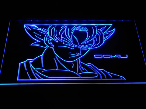 Dragon Ball Saiyan Goku LED Neon Sign g380 - Blue