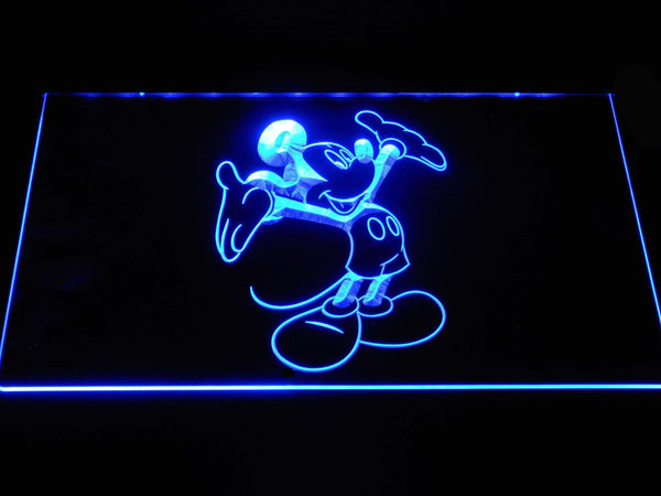 Disney Mickey Mouse LED Neon Sign g384 - Blue