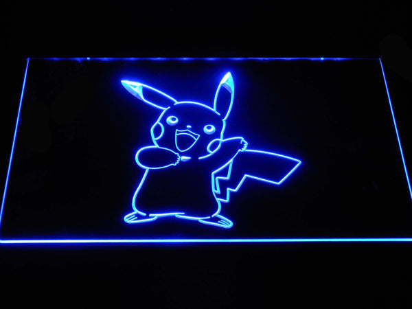 Pokemon Pikachu LED Neon Sign g386 - Blue