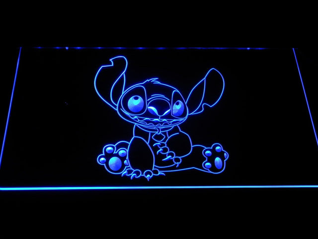 Disney Stitch LED Neon Sign g391 - Blue