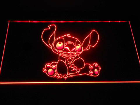Disney Stitch LED Neon Sign g391 - Red