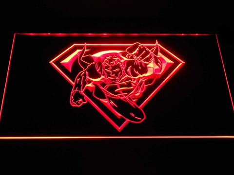 Superman Flying LED Neon Sign g392 - Red