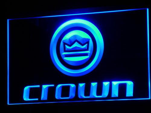 Crown Audio LED Neon Sign k031 - Blue