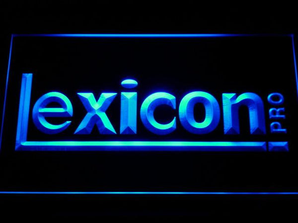 Lexicon Pro Studio Equipment LED Neon Sign k045 - Blue