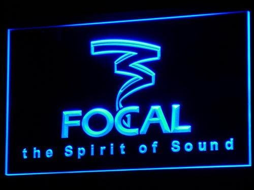 Focal Audio Speaker Theater LED Neon Sign k056 - Blue