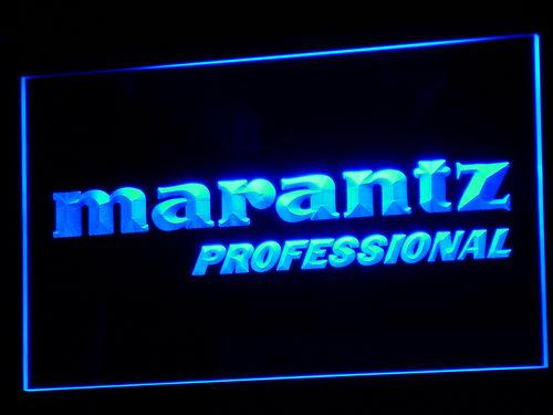 Marantz Professional Audio Theater LED Neon Sign k074 - Blue