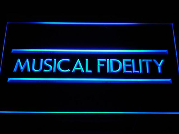 Musical Fidelity Hi-fi System LED Neon Sign k085 - Blue