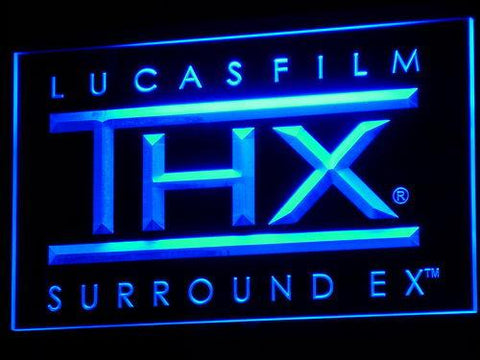 Lucas Film THX Sound LED Neon Sign k134 - Blue