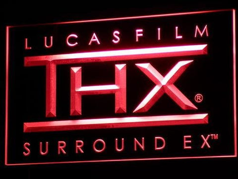Lucas Film THX Sound LED Neon Sign k134 - Red