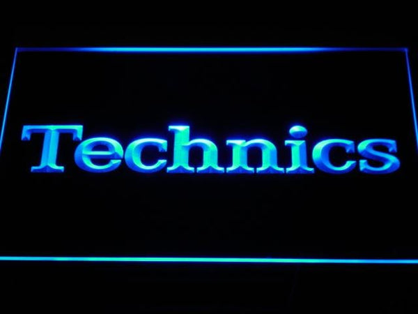 Technics Turntables Dj Music  LED Neon Sign k149 - Blue