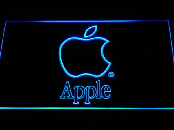 Apple Logo LED Neon Sign k152 - Blue