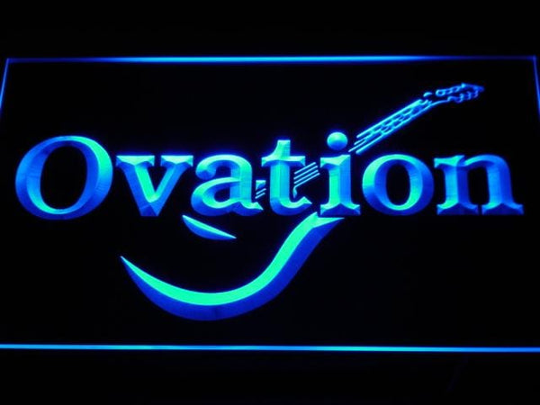 Ovation Guitars Acoustic Music LED Neon Sign k170 - Blue