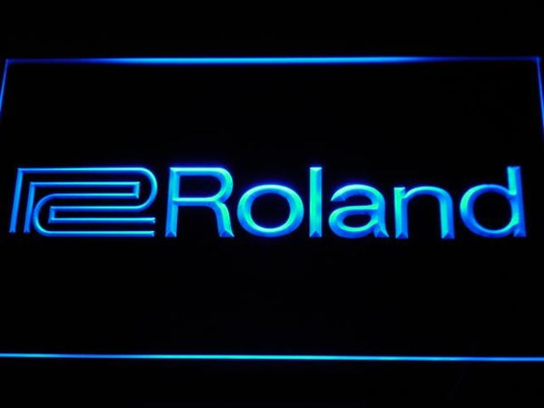 Roland Music LED Neon Sign k172 - Blue