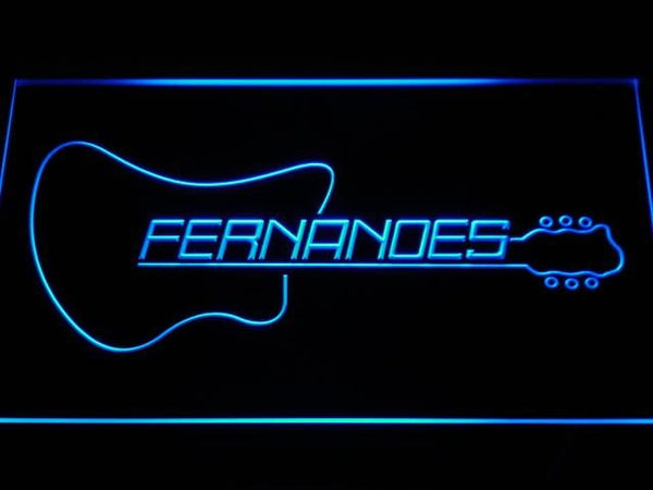 Fernandes Guitar LED Neon Sign k189 - Blue