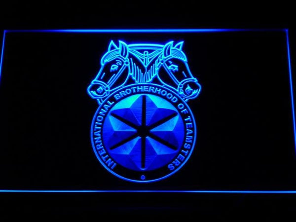 International Brotherhood of Teamsters Labor Union LED Neon Sign m069 - Blue
